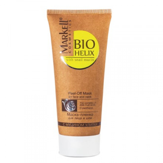 Markell, Маска-пленка для лица с муцином улитки «Bio-Helix», 100 мл