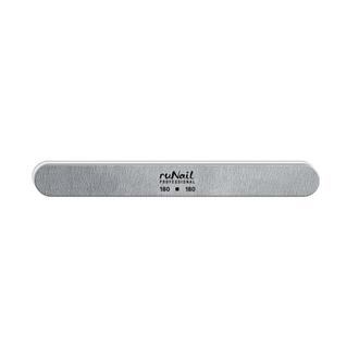 ruNail, Пилка для искусственных ногтей закругленная, серая, 180/180