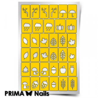 Prima Nails, Трафареты «Осень»