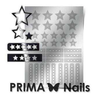 Prima Nails, Металлизированные наклейки UZ-02, серебро