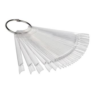 Planet Nails, Палитра для лаков веер, прозрачная, 24 шт.