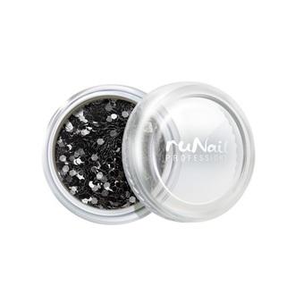 ruNail, дизайн для ногтей: конфетти (черный)