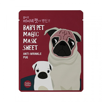 Holika Holika, Маска-мордочка против морщинок Baby Pet Magic Mask Sheet, Мопс