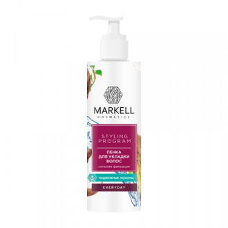 Markell, Пенка для укладки волос Everyday, сильная фиксация, 200 мл