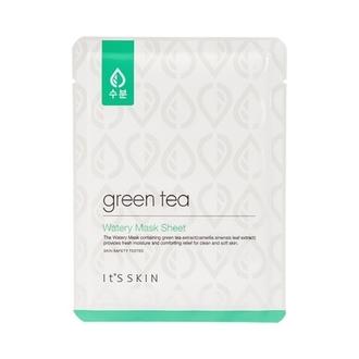 It's Skin, Тканевая маска с зеленым чаем Green Tea Watery