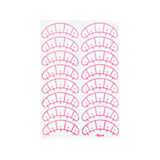 IRISK, Набор подложек для наращивания ресниц, с разметкой, 8 пар