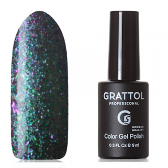 Гель-лак Grattol Galaxy №001, Emerald