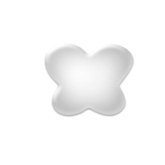 TNL, Коврик для дизайна ногтей «Бабочка», прозрачный