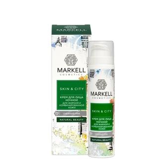 Markell, Ночной крем для жирной и комбинированной кожи Skin&City «Снежный гриб», 50 мл