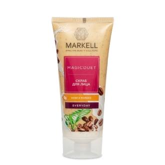 Markell, Скраб для лица Magic Duet «Кофе и молоко», 100 мл