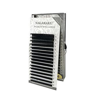NAGARAKU, Ресницы на ленте Premium Mink, 0,10 мм, D-изгиб