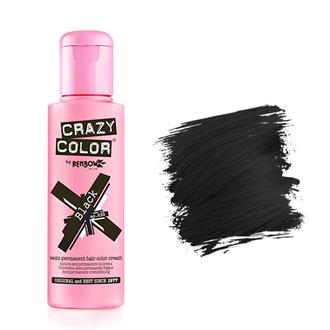 Crazy Color, Краска для волос №30, Black