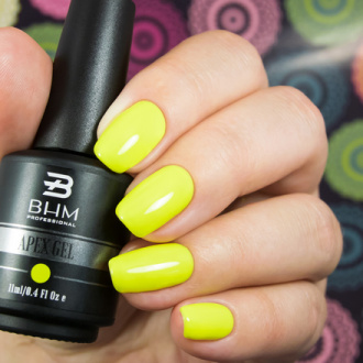 BHM Professional, Гель-лак APEX GEL №51, Acid yellow