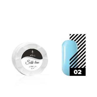 POLE, Гель-краска Silk line №02, голубая