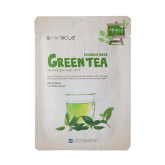 S+miracle, Маска для лица Green Tea Essence, 25 г