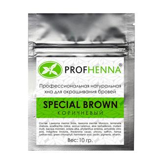 PROFHENNA, Хна для бровей Special brown, саше, 10 г