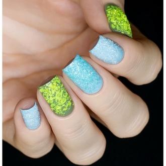 Masura, Блестки для дизайна ногтей, Аквамариновый дождик