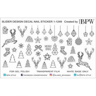 BPW.Style, Слайдер-дизайн «Зимняя геометрия» №1-1249