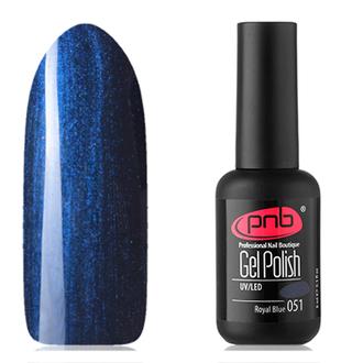 Гель-лак PNB №051, Royal blue