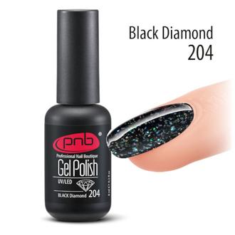 PNB, Гель-лак №204, Black Diamond