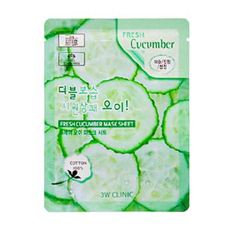 3W Clinic, Тканевая маска для лица Fresh Cucumber, 23 мл
