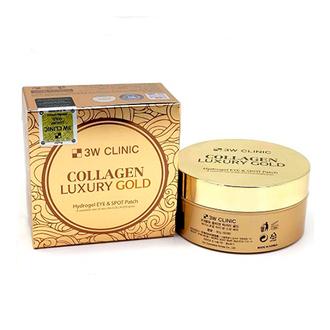 3W Clinic, Гидрогелевые патчи для глаз Collagen&Luxury, 60 шт.