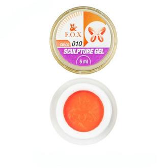 FOX, Гель-пластилин Sculpture Gel №10, оранжевый