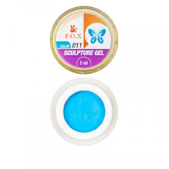 FOX, Гель-пластилин Sculpture Gel №11, голубой