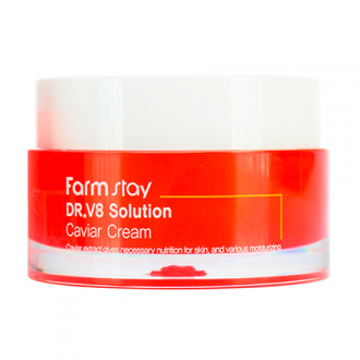 FarmStay, Крем для лица DR.V8 Solution Caviar, 50 мл