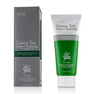 3W Clinic, Пенка для умывания Green Tea Anti Sebum, 100 мл