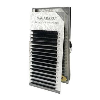 NAGARAKU, Ресницы на ленте Premium Mink, 0,12 мм, D-изгиб