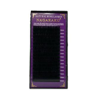 NAGARAKU, Ресницы на ленте Natural Mink, 14/0,12 мм, D-изгиб