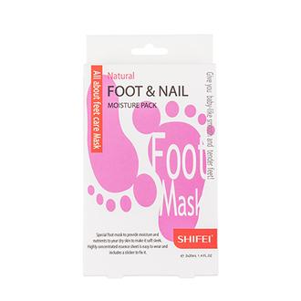 Shifei, Маска для ног Natural Foot&Nail Moisture, 1 шт.