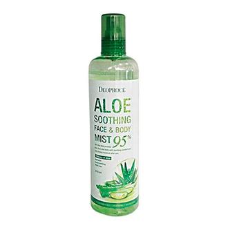 Deoproce, Спрей для лица и тела Soothing Aloe 95%, 410 мл
