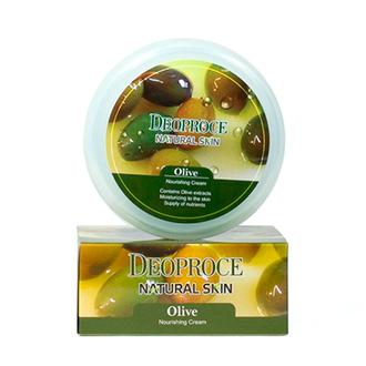 Deoproce, Крем для лица и тела Natural Skin Olive Nourishing, 100 г