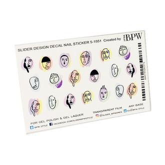 BPW.style, Слайдер-дизайн «Лица на цветном фоне» №5-1551