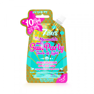 7 Days, Крем Sun Party Touch of Light, 25 г