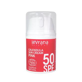 Levrana, Солнцезащитный крем «Календула» 50 SPF Pink, 50 мл