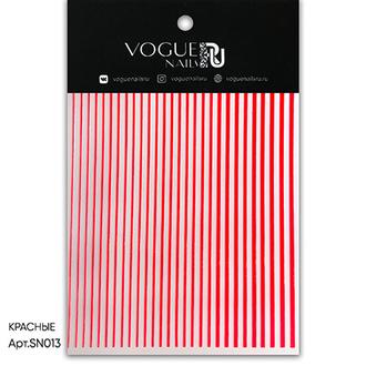 Vogue Nails, Силиконовые полоски, красные
