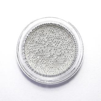 De.Lux, Бульонки металлические 0,8 мм, серебро