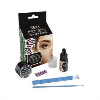 Innovator Cosmetics, Набор «Sexy Brow Henna», темно-коричневая хна