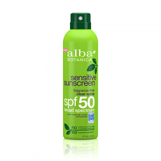 Alba Botanica, Спрей Sensitive Sunscreen SPF 50, 171 мл