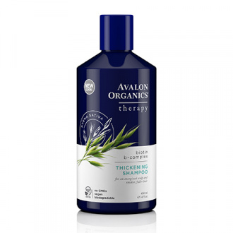 Avalon Organics, Шампунь Biotin B-Complex Thickening, 414 мл