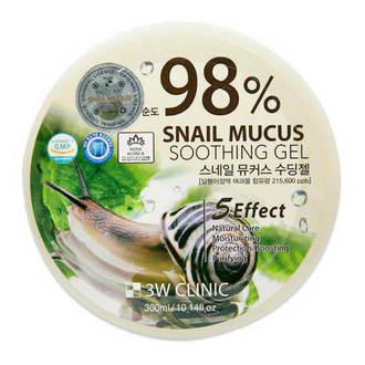 3W Clinic, Универсальный гель 98% Snail Mucus, 300 мл