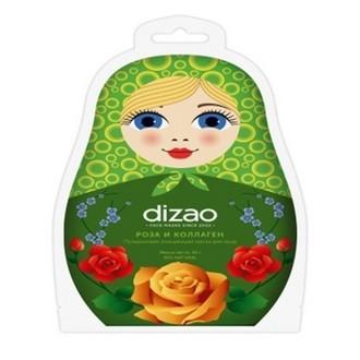 Dizao, Пузырьковая маска для лица «Роза и коллаген», 30 г