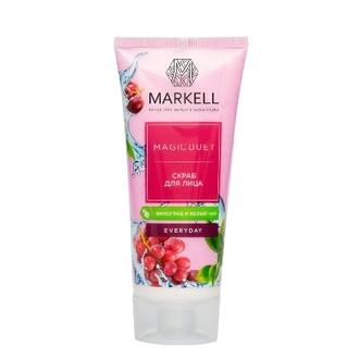 Markell, Скраб для лица Magic Duet «Виноград и белый чай», 100 мл