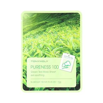 Tony Moly, Маска для лица Pureness 100 Green Tea Mask Sheet