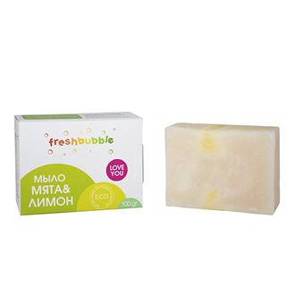 Freshbubble, Мыло кусковое «Мята и лимон», 100 г
