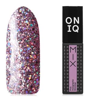 Гель-лак ONIQ Mix №102s, Pink Holographic Shimmer