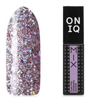 Гель-лак ONIQ Mix №103s, Dusty Pink Holographic Shimmer